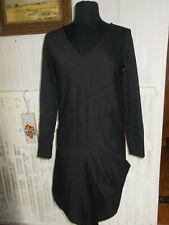 Robe hiver asymétrique viscose/polyester noir stretch COP COPINE 36 BOISSIERE