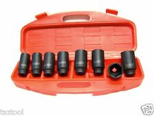 """8PC 1/2"""" DR. FRONT AND BACK WHEEL DRIVE SPINDLE AXLE NUT DEEP IMPACT SOCKET SET"""