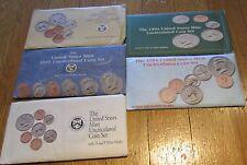 1990 1991 1992 1993 1994 US Mint Mint sets  with COA  5 Sets