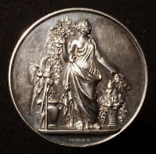 Große Silbermedaille 1874, von Pingret, Exposition Horticulture Sceaux, RR!