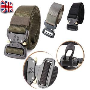Quick Release Work Belts Tactical Black Men Combat Army Nylon Buckle Waistbelt