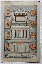 Programme EDEN Reims AUTOUR D'UNE ENQUETE Henri Chomette ANNABELLA 1932