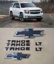 8PCS 2015-2020 Chevrolet Tahoe LT Black Bowtie Emblems Front & Rear
