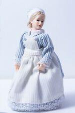 Dollhouse Miniatures ~ Heidi Ott Cook or Nursemaid Doll w/ Blue Striped Dress