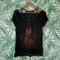 Lucky Brand Def Leppard Hysteria Black Concert T-Shirt Women's Size XS