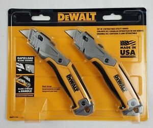 DeWalt Retractable Utility Knife Blade Storage 2 Pack Made in USA NEW