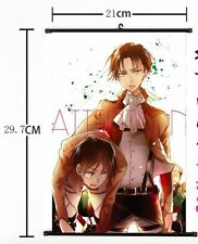 Japan Anime Attack on Titan Wall Scroll wall poster  Eren Levi 048