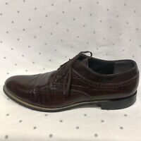 Stacy Adams Men;s Lace-Up Brown Leather Wingtip Dress Oxfords Shoes Size 11.5 M