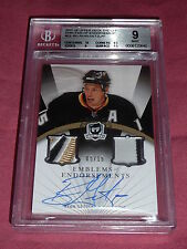 07-08 The Cup Ryan Getzlaf Emblems of Endorsement 5/15 BGS9 Pop1 Highest Graded!