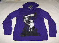 The Nightmare Before Christmas Ladies Purple Printed Hoodie Top Size S New