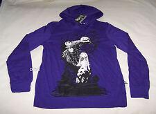The Nightmare Before Christmas Ladies Purple Printed Hoodie Top Size S New