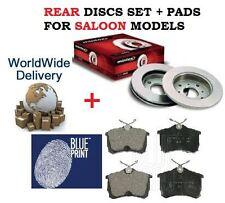 FOR HONDA ACCORD 2.0 2.2DT 2.4 2003-2008 REAR BRAKE DISCS SET + DISC PADS KIT