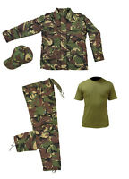 Kids Pack 14 Army Camo Fancy Dress Children's Soldier Outfit (Shirt Pants Jacket