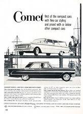 1960 Mercury Comet Ford Original Advertisement Car Print Ad J526