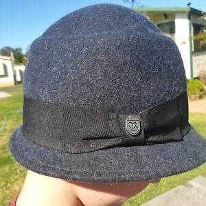 Grey Felt Ladies Brixton Hat 55cm Small Size