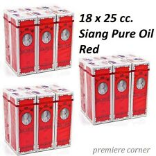 18 bottles Siang Pure Oil Original Red Formula 25ml (3Pack of 6) Free Ship+Track