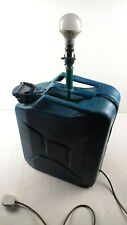 Blue Converted Jerry Can Lamp VW Volkswagen Logo Design Cool Man Cave Lighting