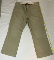 Vintage Abercrombie & Fitch 36 Reg Khaki Straight Flat Front Chino Pants Preown