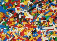 1kg Bundle of Genuine LEGO Mixed Loose Bricks Approx 800 Parts + 2 x Minifigures