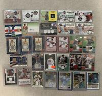 MLB Baseball Autographed Jersey Memorabilia Card Lot (30 Cards)
