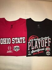 Womens Size S Ohio State Buckeyes Football Black And Red Simifinal Playoff Tees