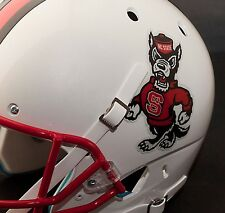 NC STATE WOLFPACK NCAA Authentic FULL SIZE Football Helmet DECALS / STICKERS