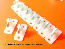 STAYPUT FASTENERS VERTICAL SINGLE WHITE TOGGLES x 10 for eyelet boat covers