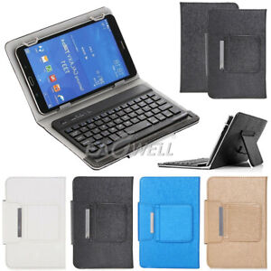 For Alcatel Joy Tab 2 8-inch Tablet Bluetooth Keyboard Leather Stand Case Cover