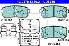 ATE Disc Ceramic Brake Pad Set For KIA HYUNDAI Ceed Sw Pro Rio II 58302-1HA10
