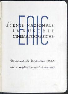 ENIC Ente Nazionale Industrie Cinematografiche - Produzione / Calendario 1950 51