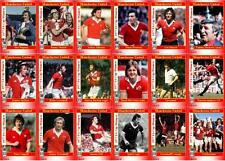 Manchester United 1977 FA Cup winners football trading cards