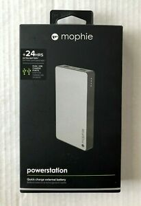 MOPHIE POWER STATION QUICK CHARGE EXTERNAL BATTERY FOR CELL PHONE 24 HOUR CHARGE