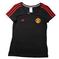 Adidas T-Shirt Manchester United FC 3-Stripes Tee Damen schwarz Gr. S-M-L-XL-XXL