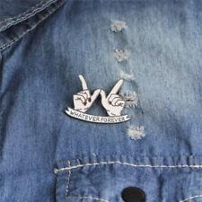 Whatever Forever Enamel Brooch Pin Jacket Badge Best Friends Brooch Jewelry G0