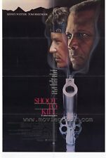 SHOOT TO KILL Movie POSTER 27x40 Sidney Poitier Tom Berenger Kirstie Alley