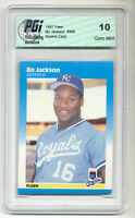 1987 Fleer BO JACKSON baseball Rookie Card PGI 10 Kansas City Royals