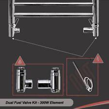 300W Heating Element & Dual Fuel Valve Kit - for Towel Rails & Radiators