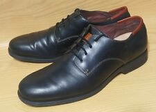 Fossil Mens Black Leather Oxfords 10.5 Lace Up Shoes