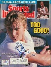 Steffi Graf autographed signed autograph 1991 Sports Illustrated tennis PSA/DNA
