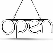 Led Neon Open Sign Light. Perfect to Advertise Storefront, Bright White