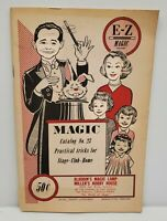 Vintage Aladdins Magic Lamp Magic Trick Catalog Magician Collectibles Ephemera