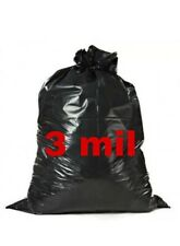 Heavy Duty Trash bags 33 gallon 3.0mil Thickness 33x39 Inch 50 Trash Bags