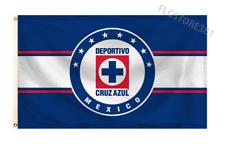 Cruz Azul Flag Banner 3x5 Ft Mexico Futbol Bandera