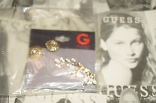 NWT G GUESS KEY / FLOWERS EARRINGS 211924-21