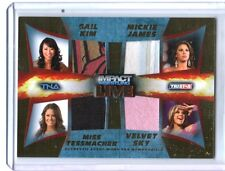 TNA Knockouts Gail Sky 2013 Impact Wrestling LIVE GOLD Quad Relic Card 16 of 50