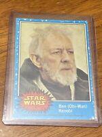 1977 Star Wars #6 Ben Obi-Wan KenobiTopps Trading Card Original Blue Series 1