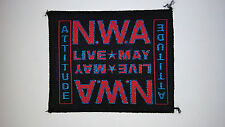 NWA N.W.A. Attitude group rap hiphop artist Sew On patch music vintage