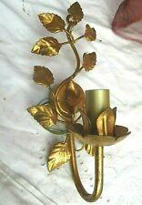 * florentiner wand lampe 1 arm mit anmutigem blattwerk vintage einwandfrei