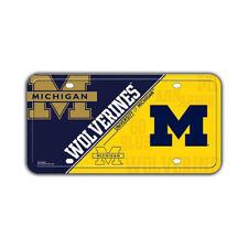 Metal Vanity License Plate Tag Cover - University of Michigan Wolverines