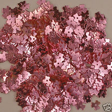 Vintage 1930's French Sequins 3 Petal Flowers Pink 6mm 50 pieces
